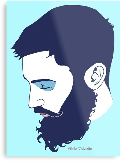 Cute Bearded Man by Vilela Valentin