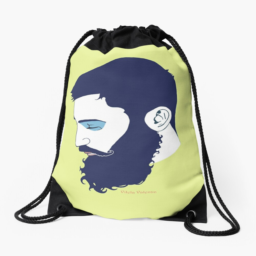 Cute Bearded Man Drawstring Bag Front