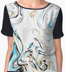 Marble pattern. Women's Chiffon Top