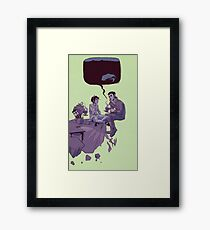 tea party in the void Framed Print