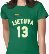 Sarunas Marciulionis 13 Lithuania Basketball Women's Fitted T-Shirt