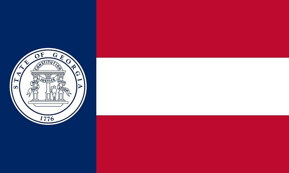 Flag of Georgia, 1920-1956 by abbeyz71