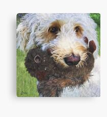 """Beau With Toy Squirrel"" Canvas Print"