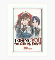 I want YOU for Gallian Militia Art Print