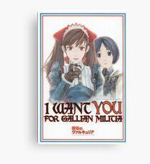I want YOU for Gallian Militia Canvas Print