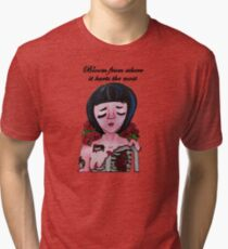 Bloom From Where It Hurts the Most  Tri-blend T-Shirt