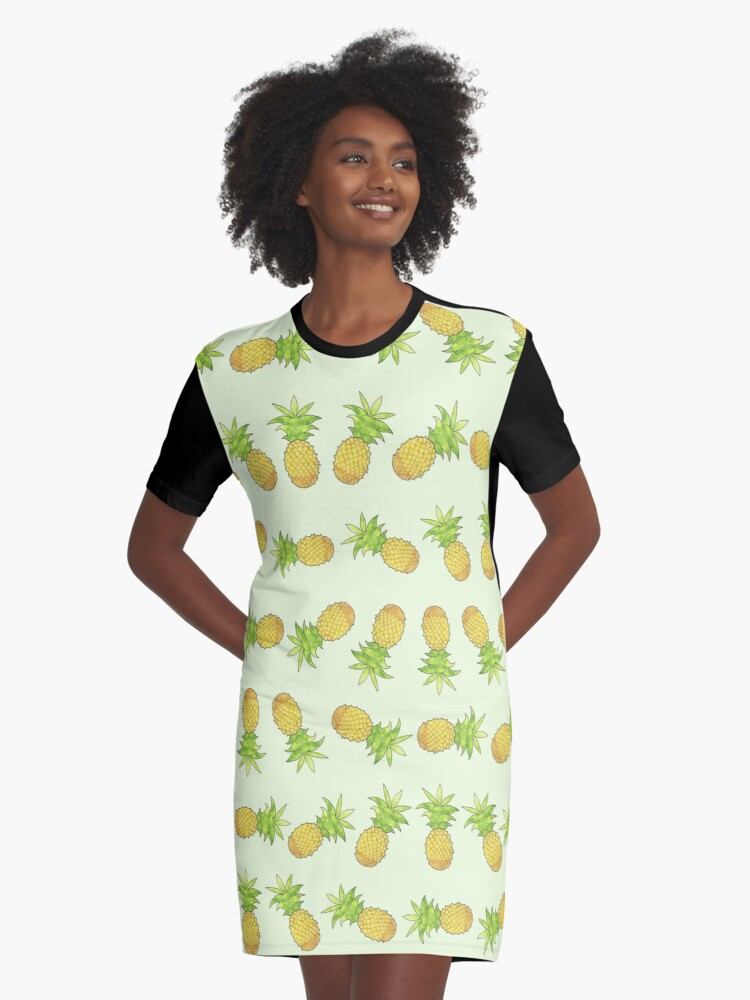 Pineapp-puh-lease! Graphic T-Shirt Dress Front