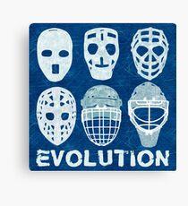 Hockey Goalie Mask Evolution Canvas Print