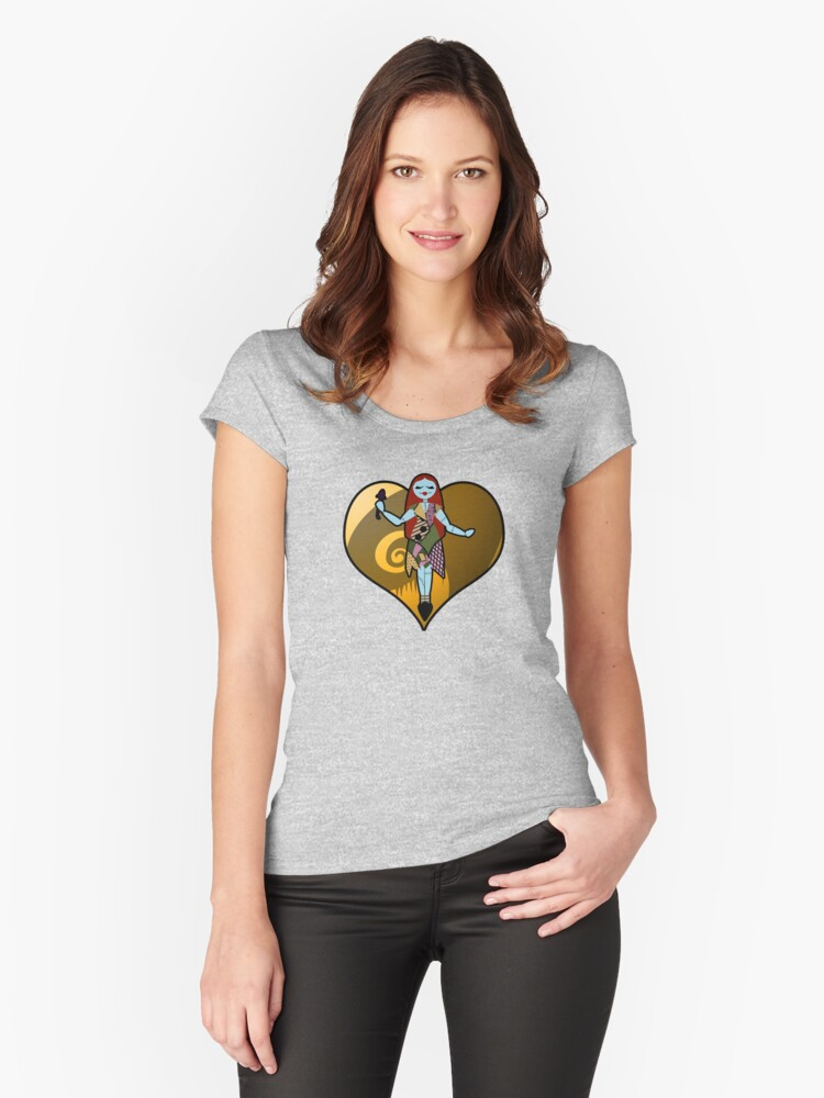 Spooky Sally Love Women's Fitted Scoop T-Shirt Front