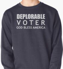 Deplorable Voter #basketofdeplorables Election 2016 White Pullover