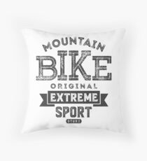 Mountain Bike Original Extreme Throw Pillow