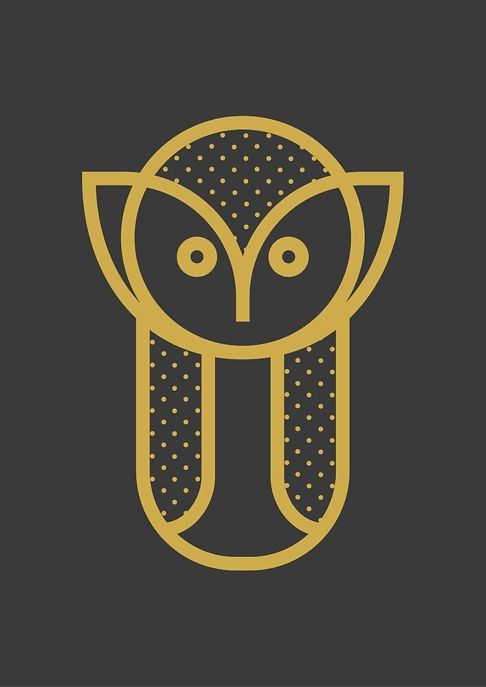 Owl Animal Print by mikehilldesign
