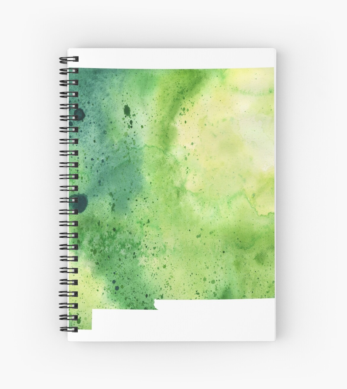 atercolor Map of New Mexico, USA in Green  by Andrea Hill
