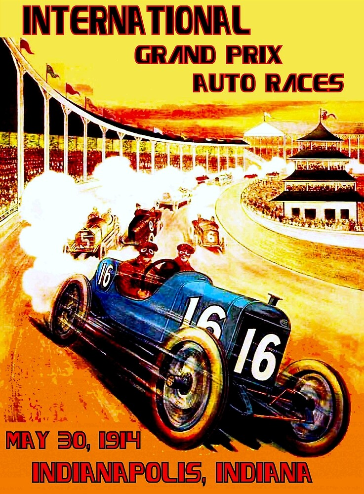 INTERNATIONAL GRAND PRIX; Vintage Auto Racing Print by posterbobs
