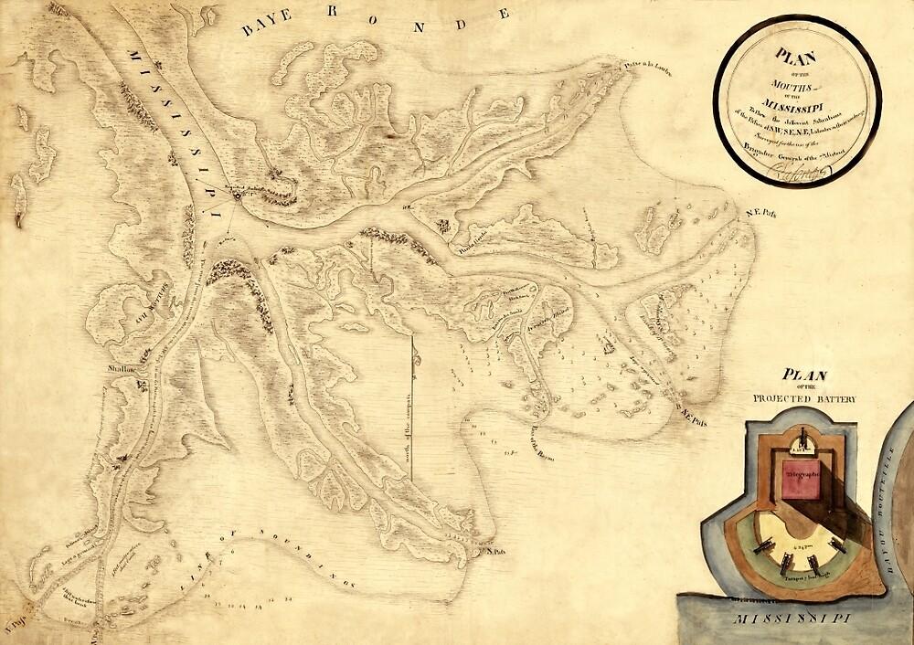 Mississippi River 1813 by mollyfare
