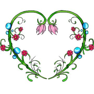 Heart of Vines by Green9Designs