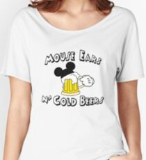 Mouse Ears and Cold Beers Women's Relaxed Fit T-Shirt