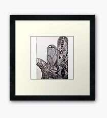 Hamsa Ink Framed Print