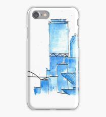 Blue Watercolor Milwaukee Skyline iPhone Case/Skin
