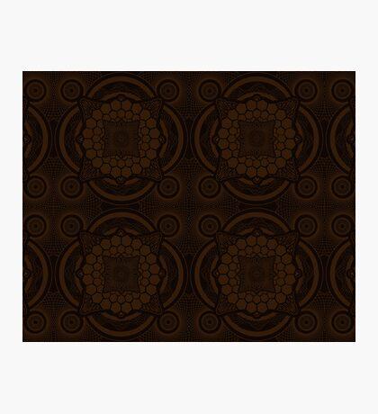 Brown Mandala Photographic Print