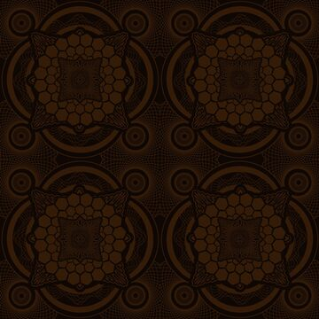 Brown Mandala by buzatron