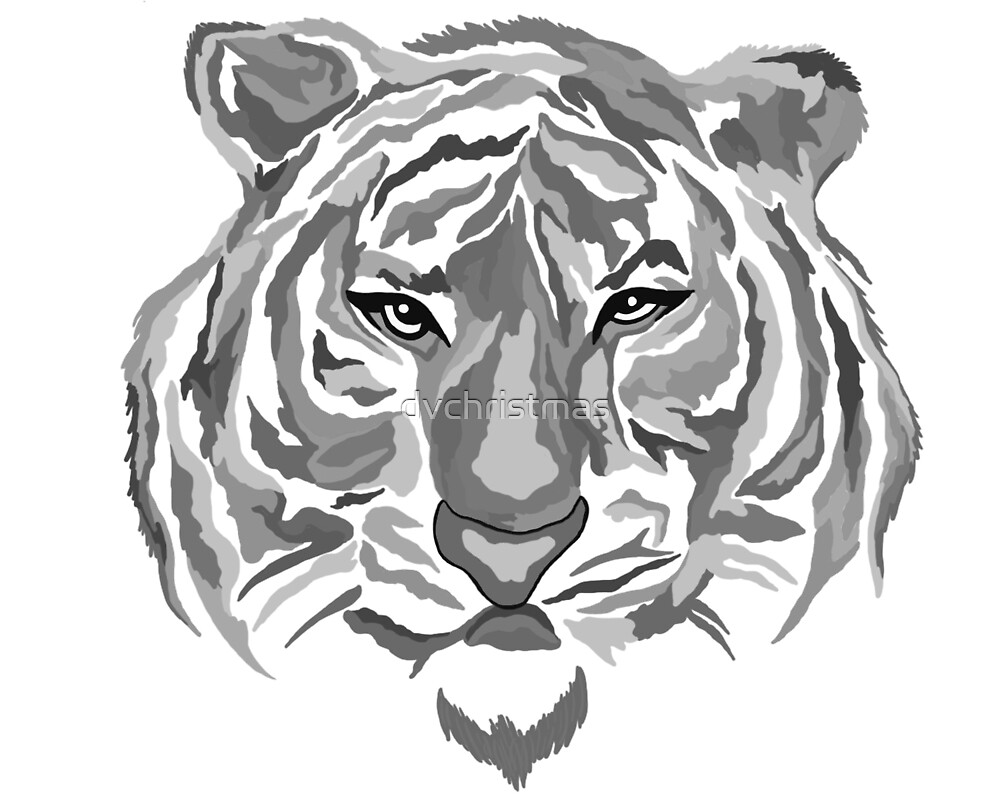 Black/Gray Tiger by dvchristmas