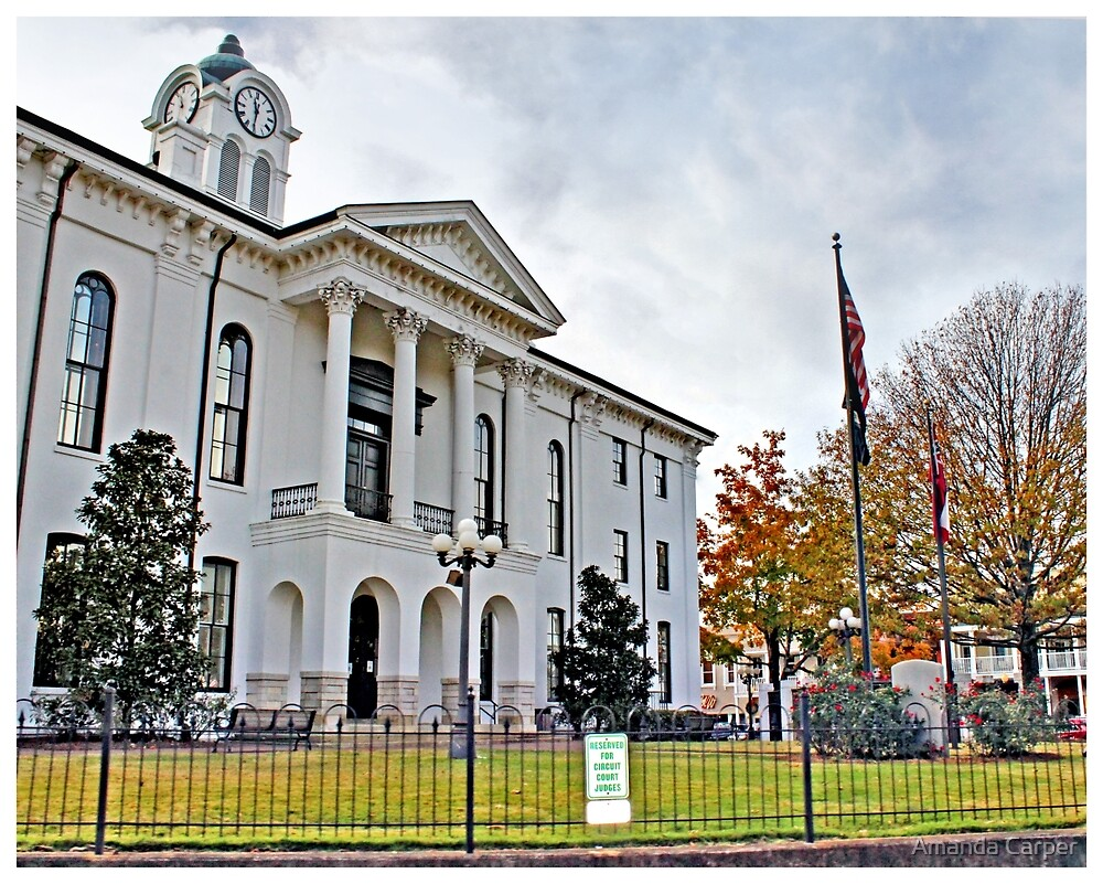 Courthouse in Fall by Amanda Carper