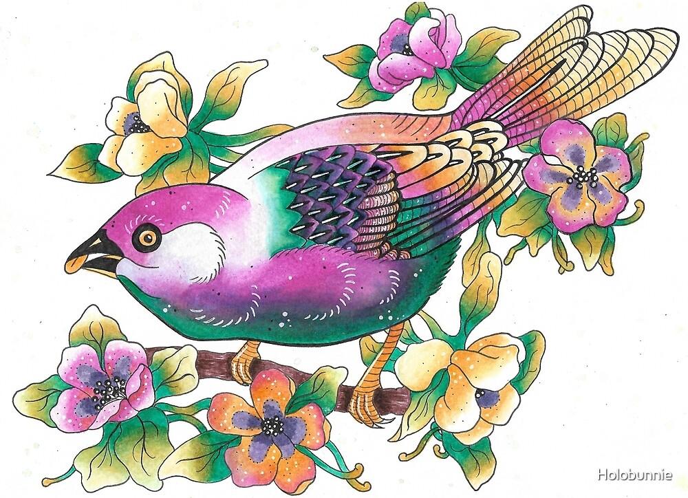 Rainbow Bird by Holobunnie