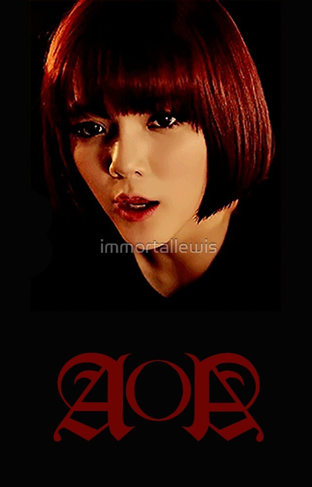 Shin Jimin AOA Design (In Black and Red) by immortallewis