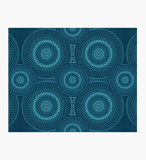 Blue Mandala Photographic Print