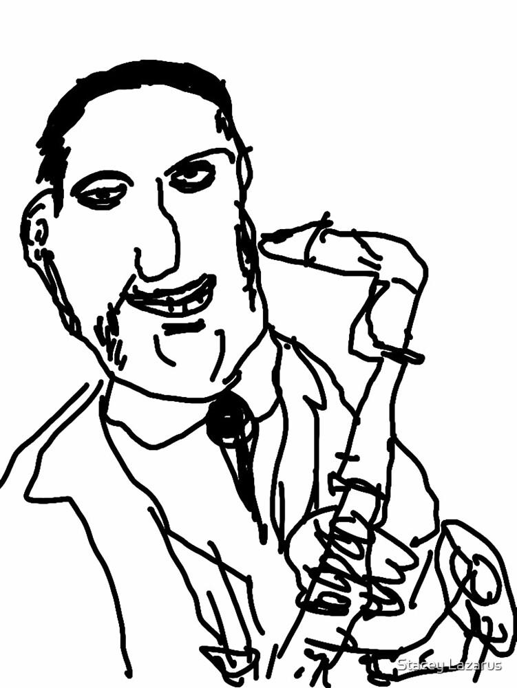 Jazz Sax Player by Stacey Lazarus