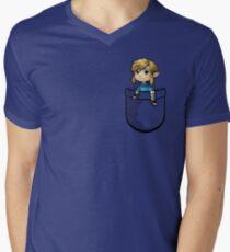 Pocket Link BOTW Zelda Men's V-Neck T-Shirt