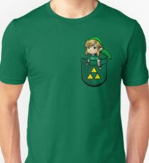 Pocket Link Hero of Time Zelda with Triforce T-Shirt