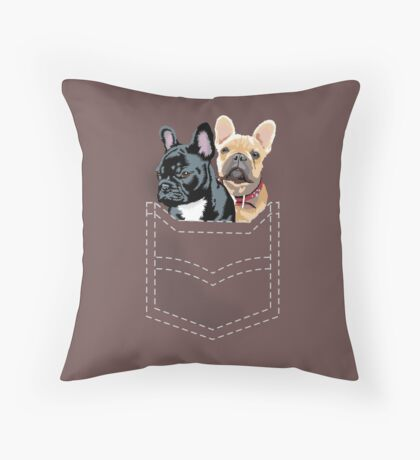 Diesel and Brie in pocket Throw Pillow