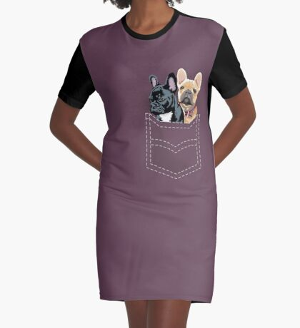Diesel and Brie in pocket Graphic T-Shirt Dress