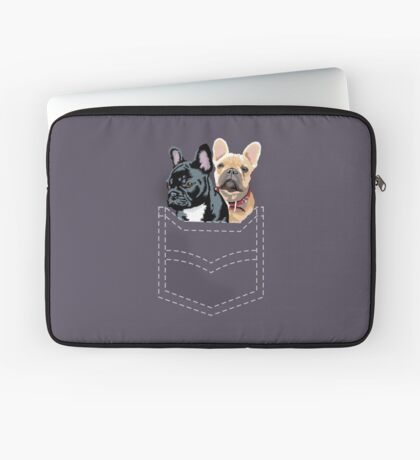 Diesel and Brie in pocket Laptop Sleeve