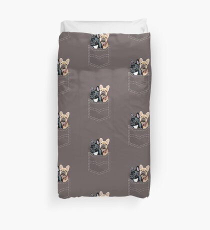 Diesel and Brie in pocket Duvet Cover