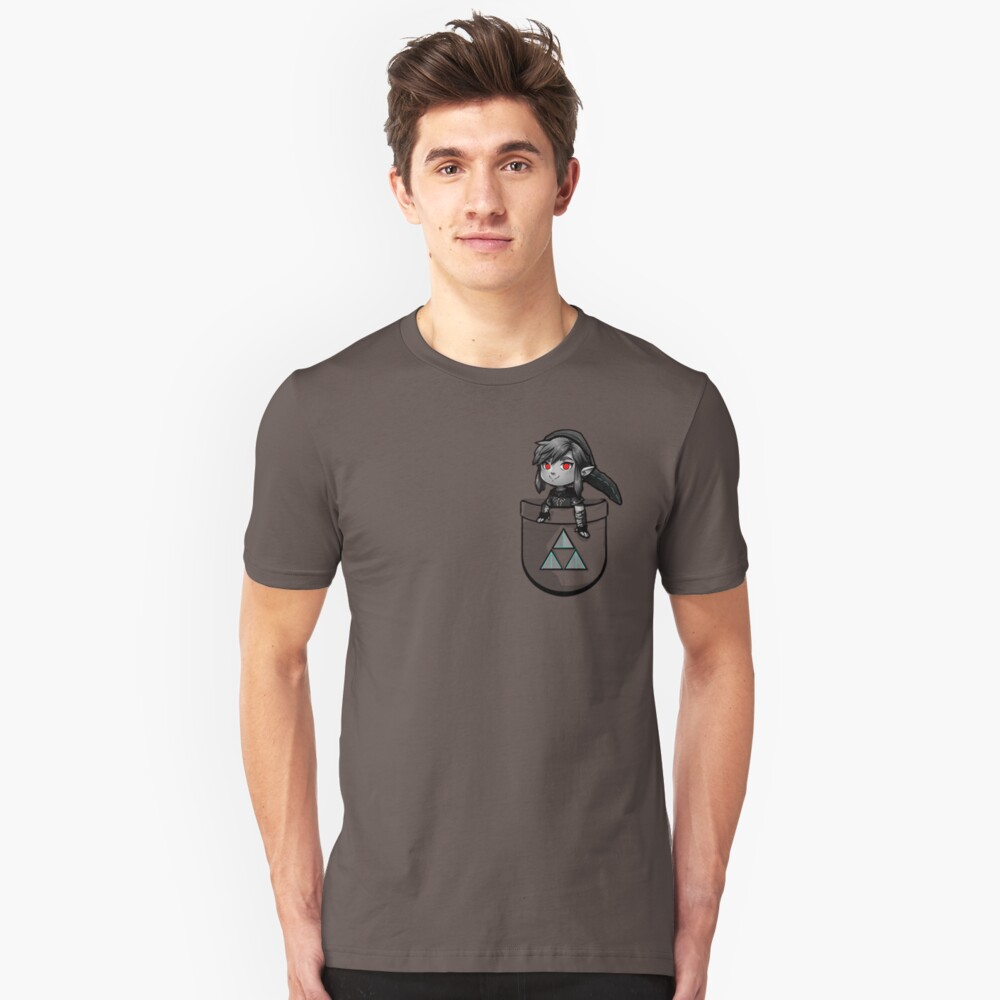 Pocket Dark Link Unisex T-Shirt Front