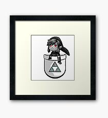 Pocket Dark Link Framed Print