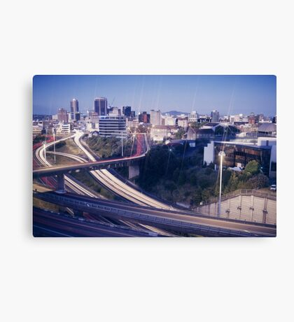 night and day, Auckland Motorways 1990 Canvas Print