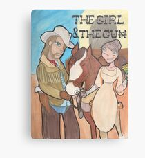 The Girl & the Gun Metal Print