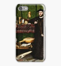 Hans Holbein the Younger - The Ambassadors 1533 png iPhone Case/Skin