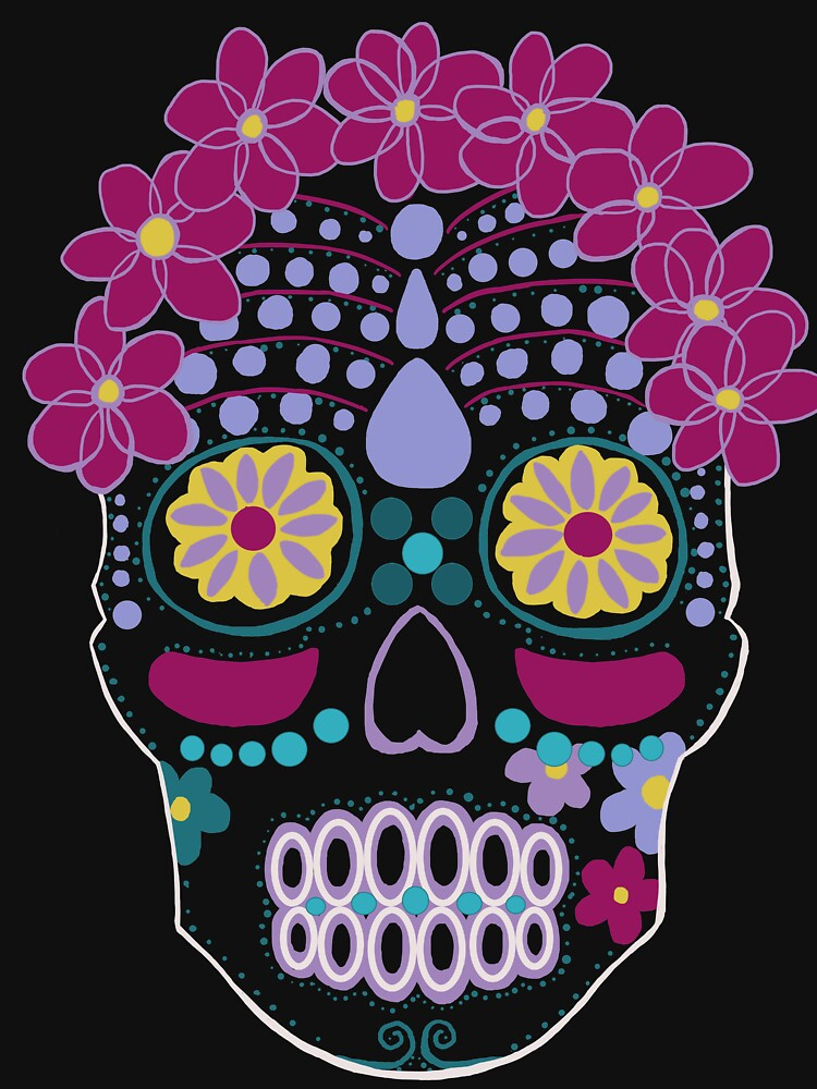 Colorful Sugar Skull by MedusaPop