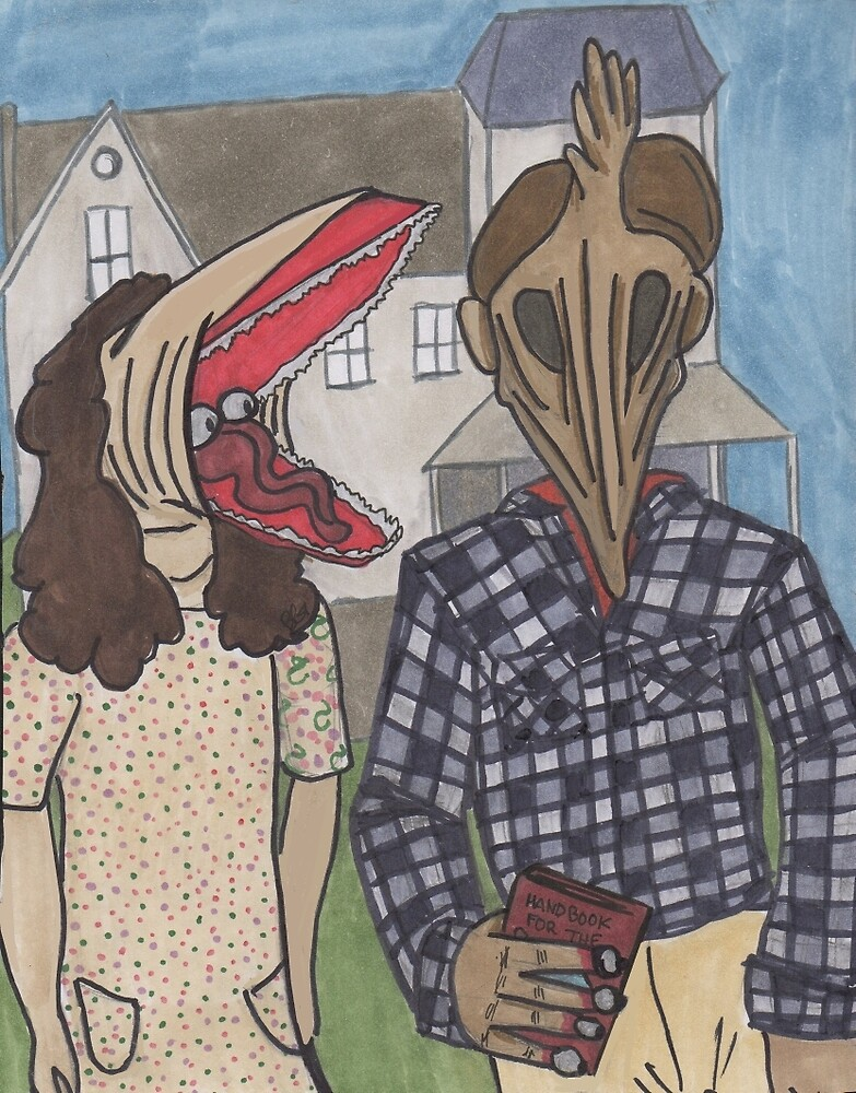 The Maitlands - Beetlejuice - American Gothic by LoonyMoonyProds