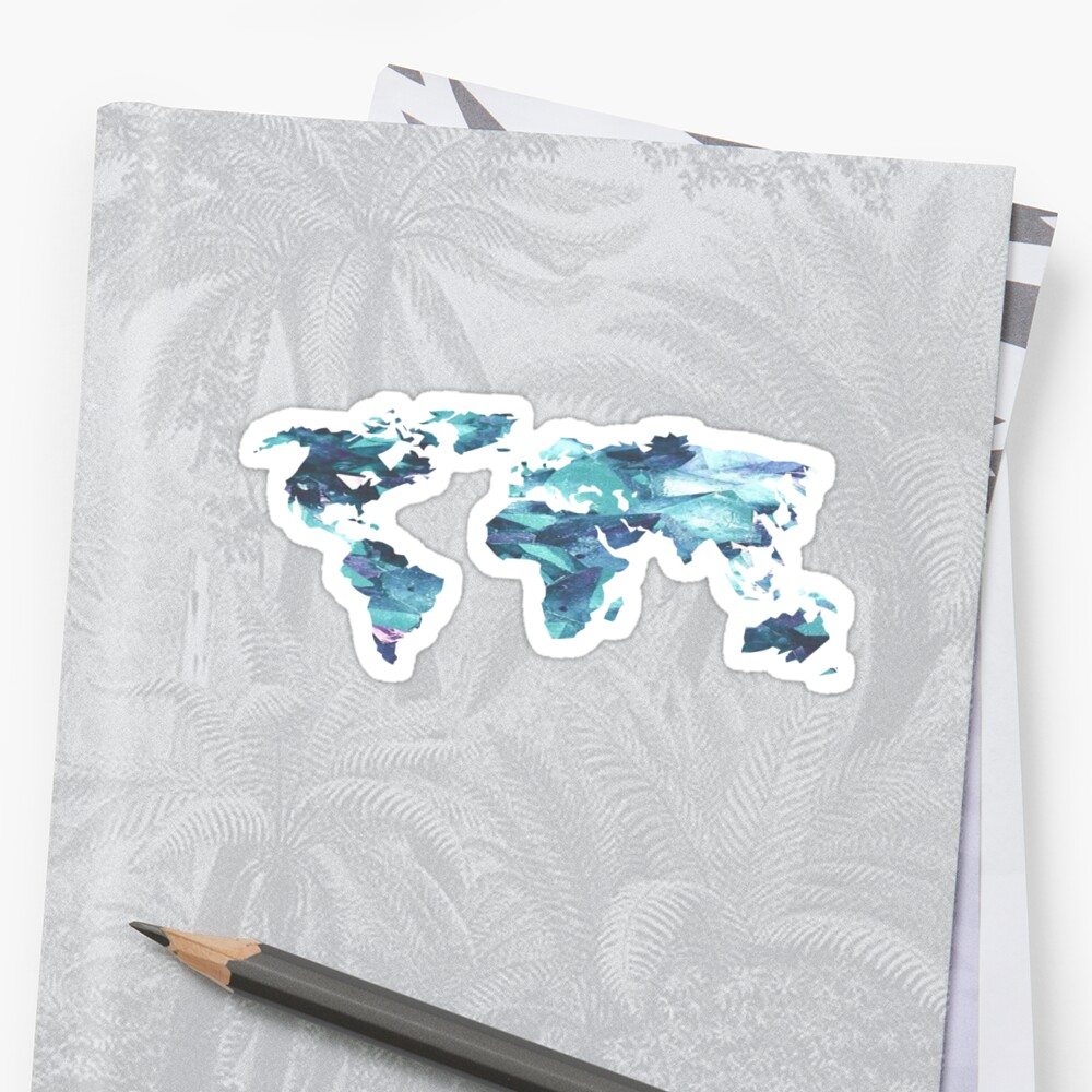World Map Blue Crystal by Coffee &  Speech