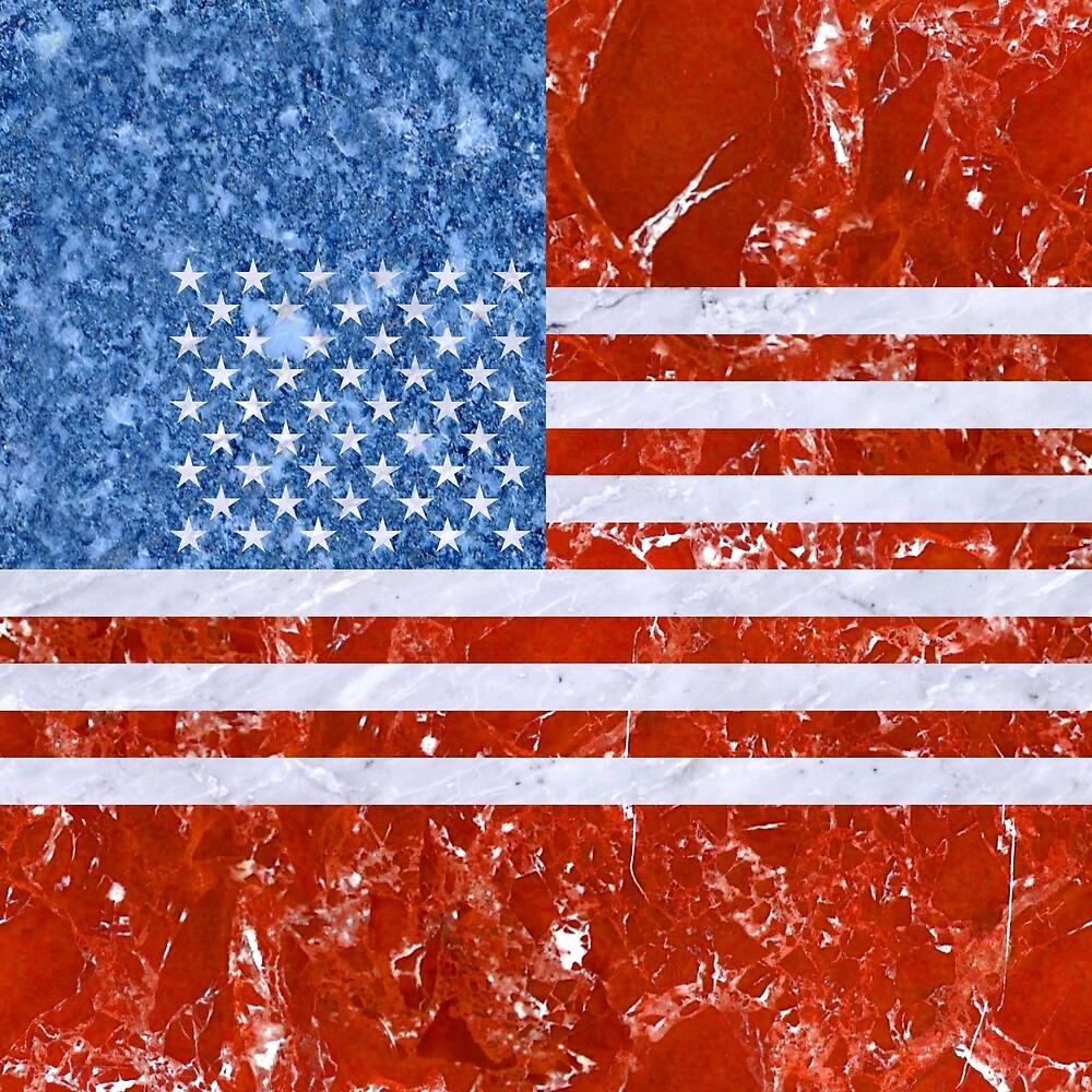 USA FLAG MARBLE by johnhunternance