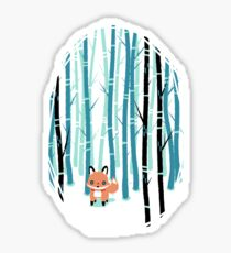 Fox in the Forest Sticker
