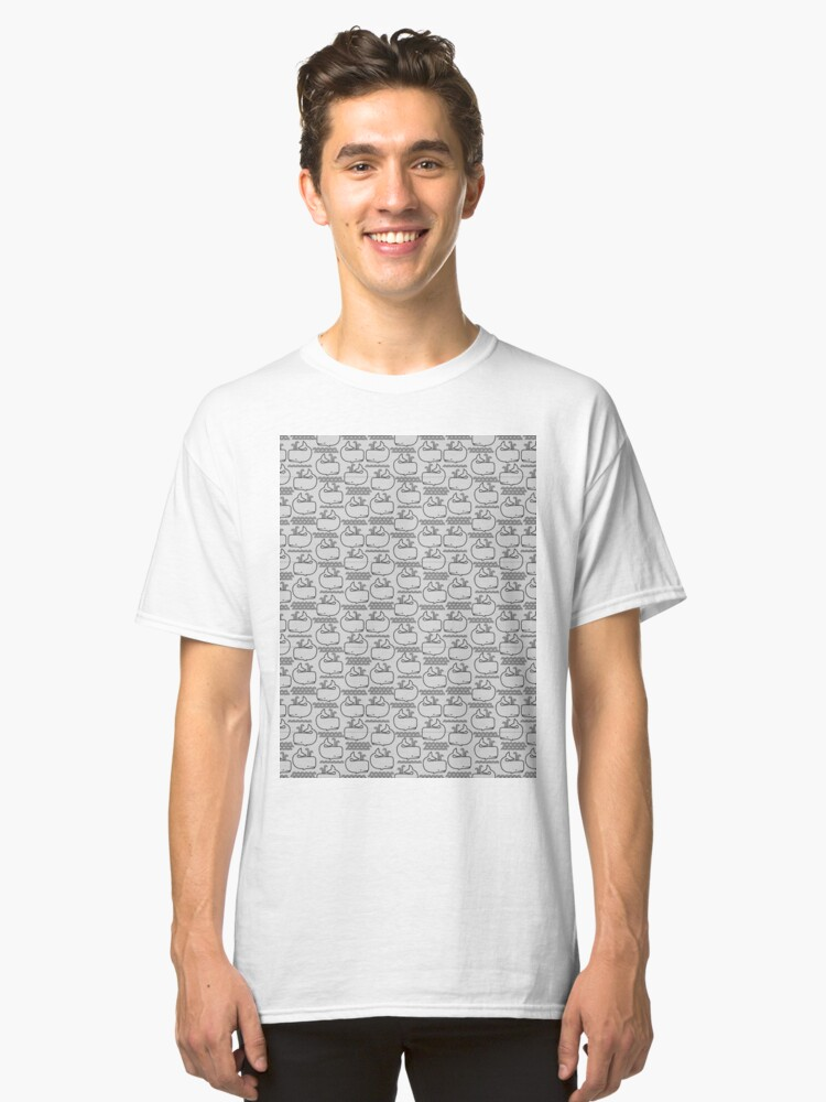 Whales and Waves Classic T-Shirt Front