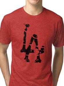 L A Abstract Funny Logo Tri-blend T-Shirt