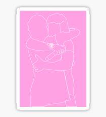 The Lug Outline (Pink) Sticker